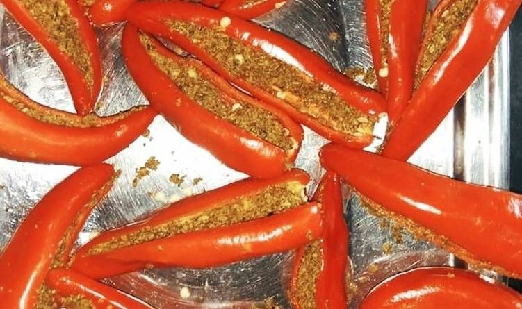 How to make Stuffed Red Chilli Pickle